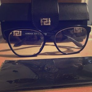Versace frames and case